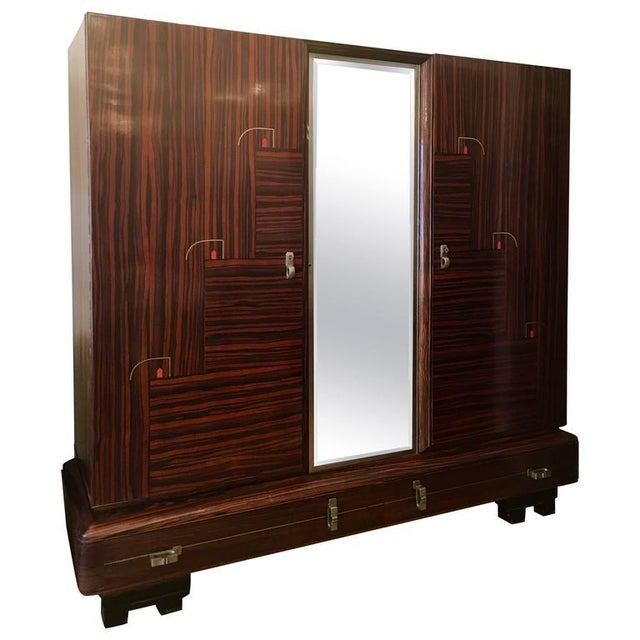 1930s Art Deco De Coene Belgian Cabinet Wardrobe For Sale - Image 13 of 13