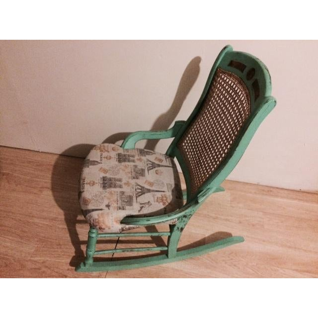 Shabby Chic Green Rocking Chair - Image 5 of 5