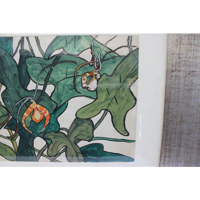 """Late 20th Century Vintage Jane Peterson Watercolor Painting """"Spider Orchid"""" For Sale - Image 5 of 13"""