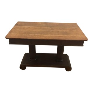 Antique Empire Style Library Table For Sale