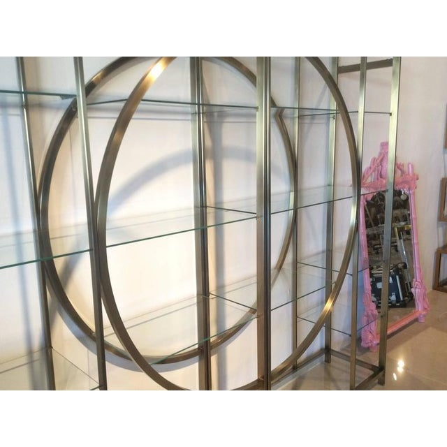 Design Institute of America Milo Baughman Vintage Brass Etagere Shelves - A Pair - Image 8 of 11
