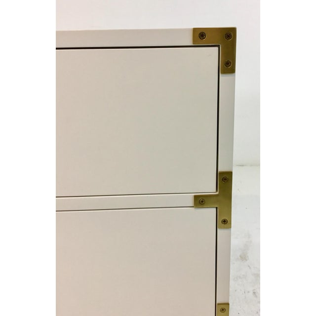 Ave Home Modern White Carlyle Campaign Chest of Drawers For Sale - Image 4 of 6