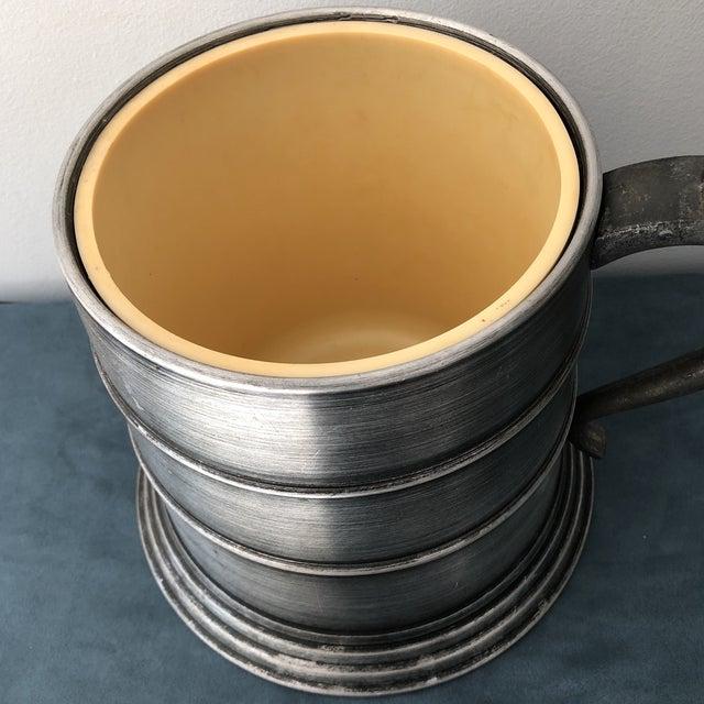 1960s Vintage Italian Pewter Beer Mug Ice Bucket For Sale - Image 5 of 7