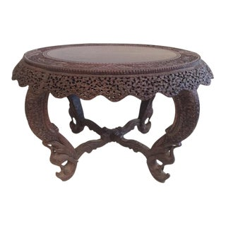 19th Century Raj Anglo Indian Center Table For Sale