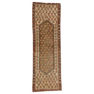 Vintage Turkish Worn-In Distressed Oushak Rug Runner - 2' X 6' For Sale