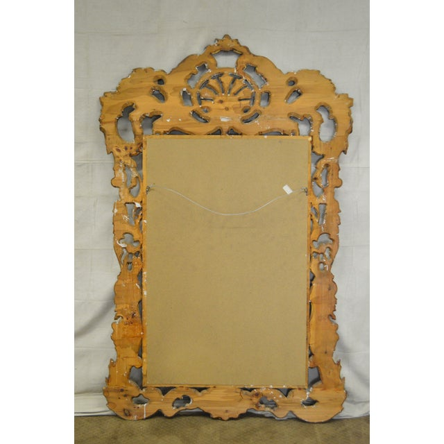 Rococo Style Large Giltwood Beveled Wall Mirror - Image 4 of 10