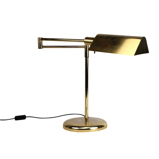 Vintage Brass Plated Table Lamp by Koch and Lowy - Image 1 of 8