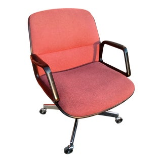 Mid-Century Pollock Style All•Steel Desk Chair For Sale