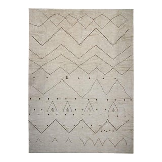 ContemporaryMoroccan Rug with Mid-Century Modern Style and Tribal Design For Sale