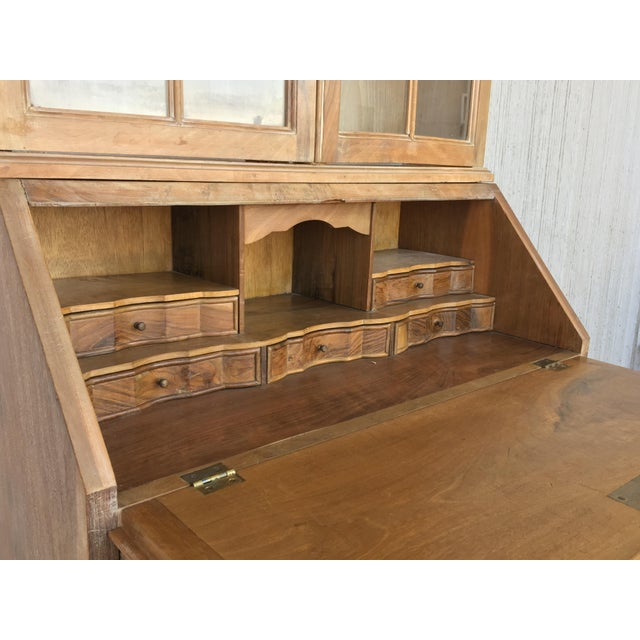 Gold 20th Century George III Secretary Bookcase For Sale - Image 8 of 13