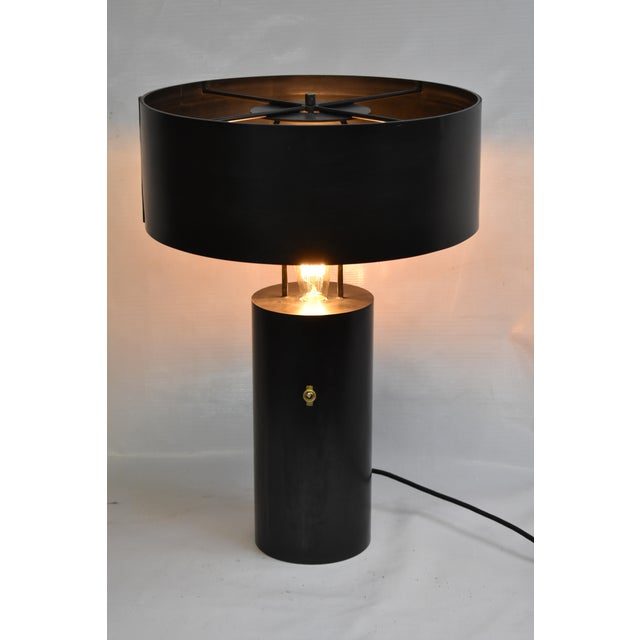 Tediously handcrafted by designer Douglas Werner in his Brooklyn studio this lamp is the essence of Oblik studio style. As...