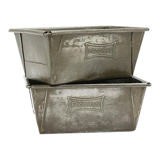 English Small Bread Loaf Tins - a Pair For Sale