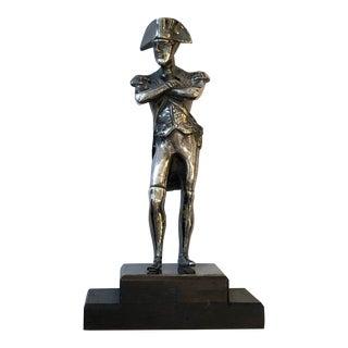 Silver-Plated Copper Napoleon the 1st Statue For Sale