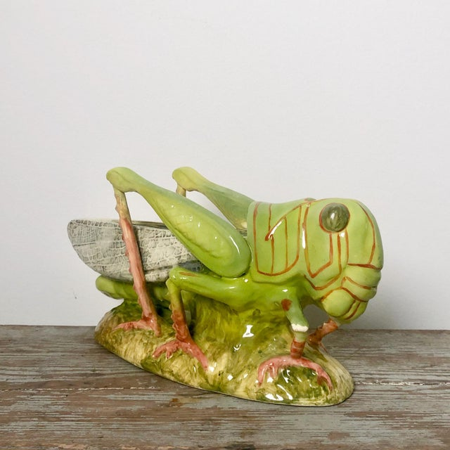 Contemporary French Majolica Grasshopper For Sale - Image 3 of 7
