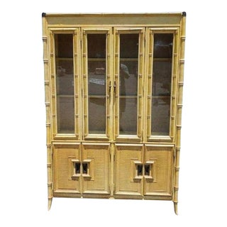 1970s Stanley China Cabinet For Sale