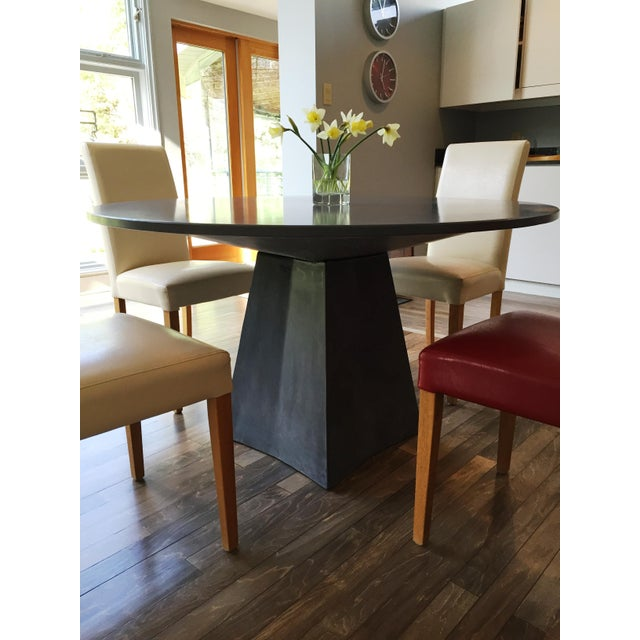 Modern Modern Vasa Concrete Dining Table For Sale - Image 3 of 6