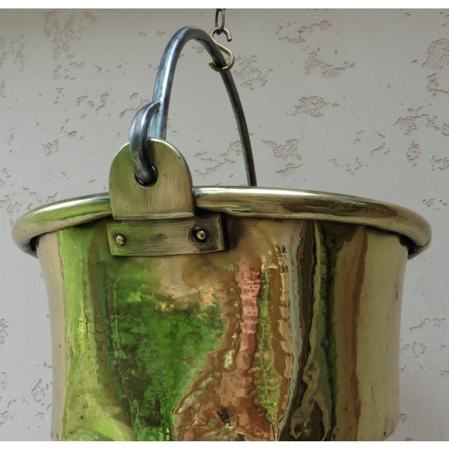 Islamic Early 19th Century French Yellow Copper Cauldron For Sale - Image 3 of 6