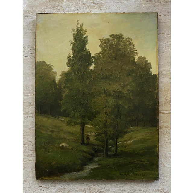 American Late 19th Century Landscape Oil Painting by George A. Traver, Framed For Sale - Image 3 of 6