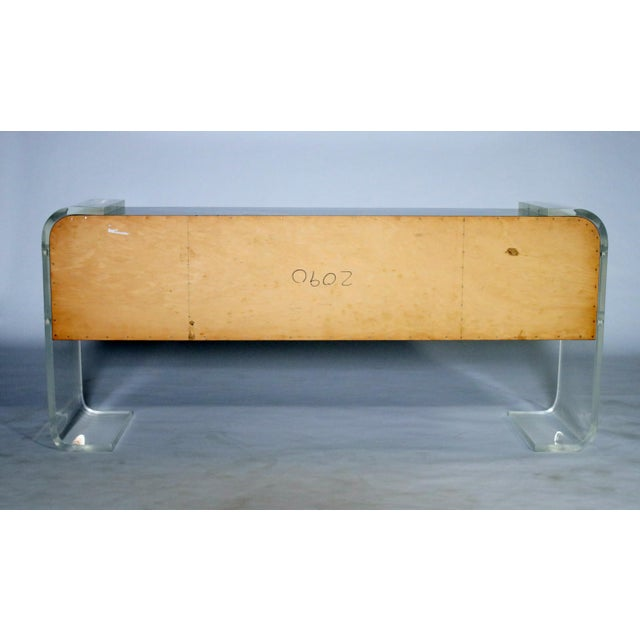 1970s Lucite and Lacquered Wood Sideboard For Sale - Image 5 of 9