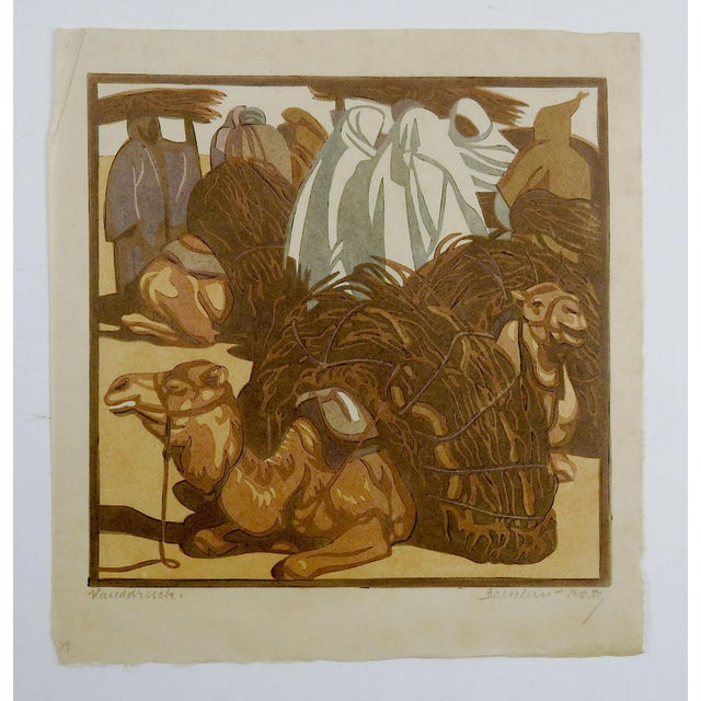 Norbertine Von Bresslern-Roth Camel Woodcut For Sale - Image 4 of 5