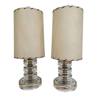 20th Century Contemporary Stacked Glass Table Lamps - a Pair For Sale