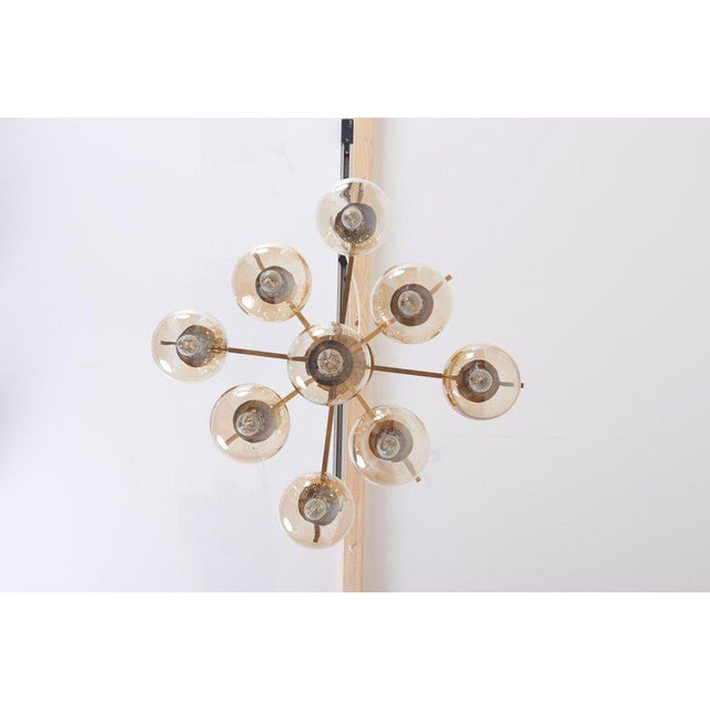 Gold Midcentury Flush Mount by Sciolari For Sale - Image 8 of 13