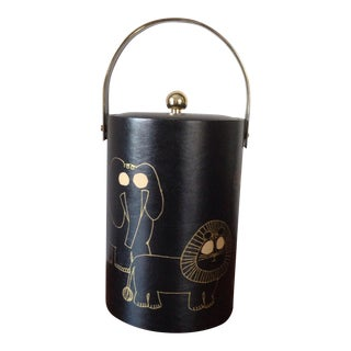 Couroc Black & Gold Animal Ice Bucket