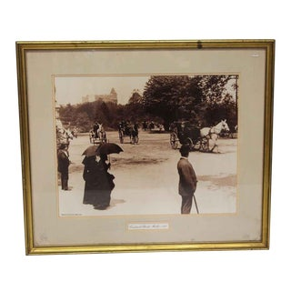 """Early 19th Century """"Central Park"""" Photo Mounted in Gold Frame For Sale"""