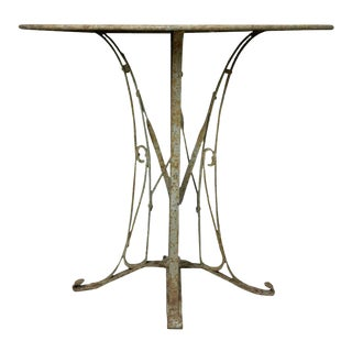 French 1920s Art Deco Style Iron Garden Table For Sale