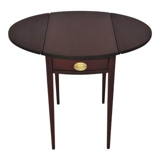 1940s Diminutive Red Mahogany Pembroke Table For Sale