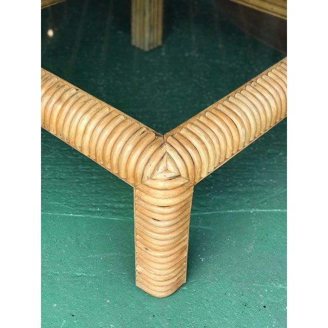Vitange Large Split Rattan Coffee Table For Sale - Image 9 of 11