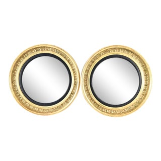 Pair of 19th Century Regency Giltwood Bullseye Mirrors For Sale
