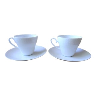 Mid-Century Rosenthal Tea Cup and Saucer - Service for 2 For Sale