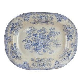 Blue & White Asiatic Pheasant Platter For Sale