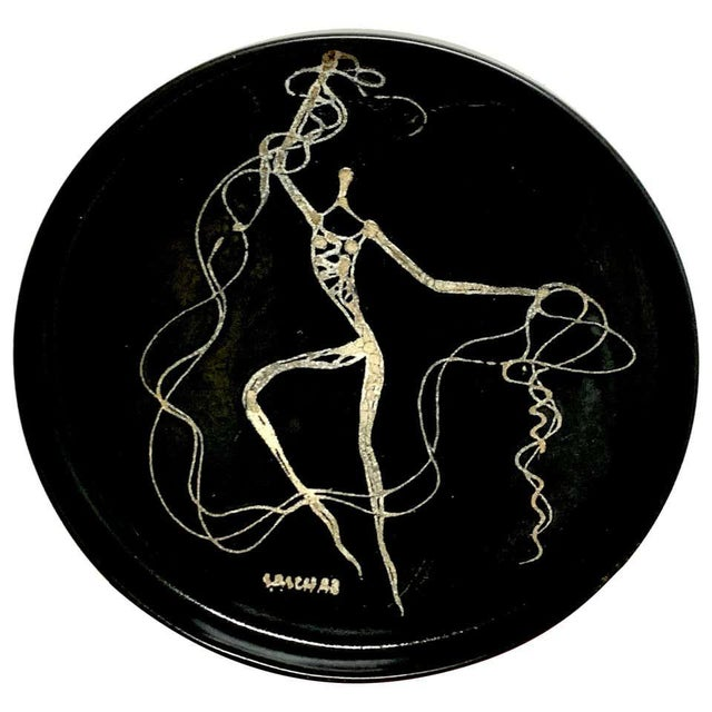 Midcentury Sascha Brastoff Abstract Nude Circular Gallery Tray For Sale - Image 10 of 10