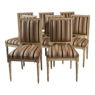 Early 20th Century Louis XVI Style Dining Chairs, Set of 8 For Sale