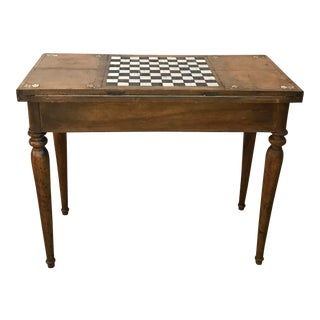 18th Century French Inlaid Bone and Walnut Game Table For Sale