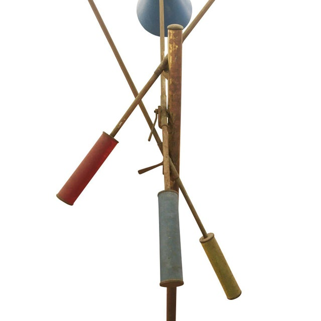 Brass Triennale Floor Lamp by Angelo Lelli for Arredoluce, Marked, 1947 For Sale - Image 7 of 7