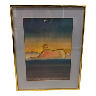 1977 Jean-Michel Folon Framed Exhibition Poster For Sale