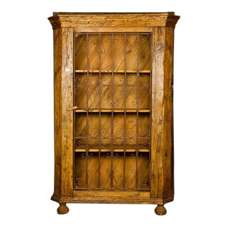 19th Century Antique French Country Pine Cabinet For Sale