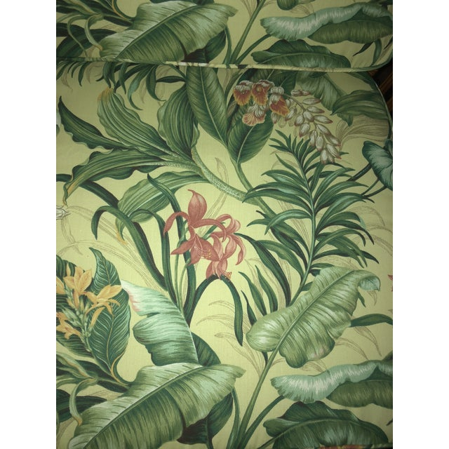 1970s Vintage Bamboo With Waverly Fabric Club Chair For Sale - Image 5 of 7
