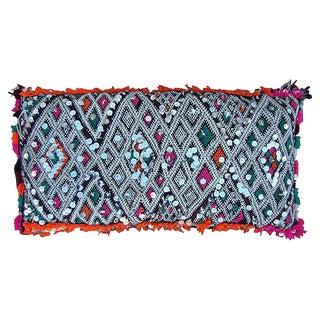 Moroccan Pink Diamonds & Orange Pillow