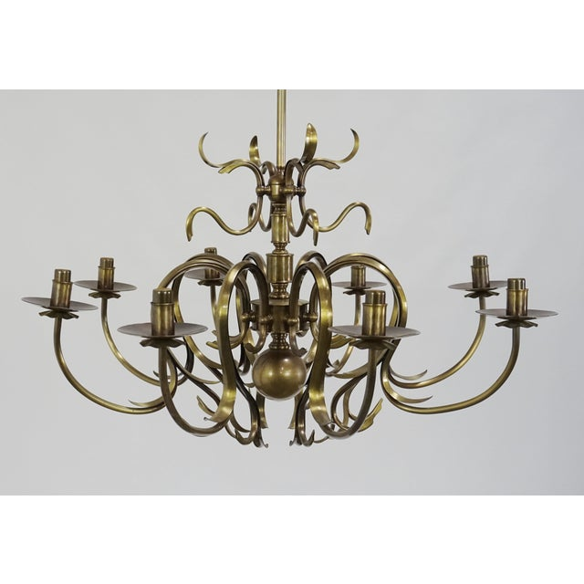 Grag Studios 8 Light Brass Chandelier - Image 3 of 10