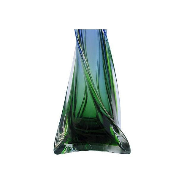 Italian Jewel-Tone Art Glass Vases - A Pair - Image 3 of 3