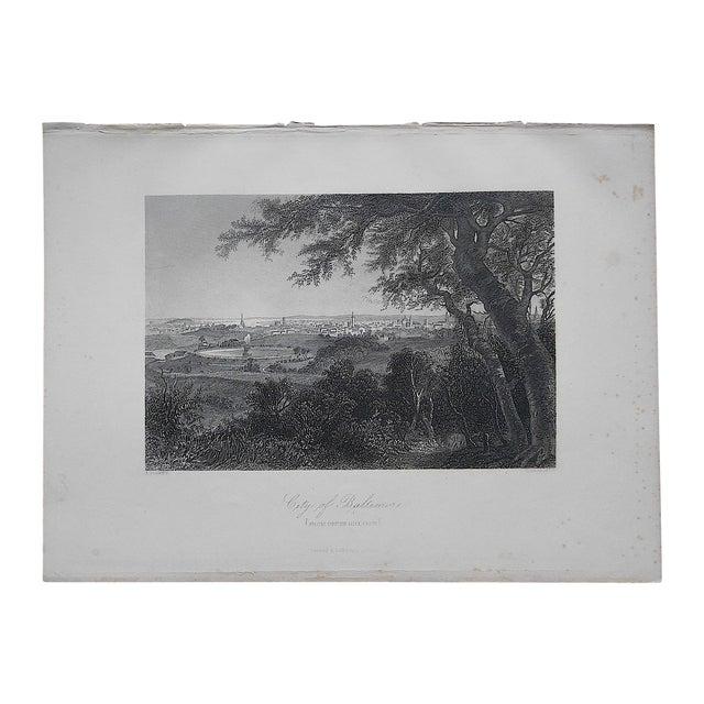 """Antique Engraving """"Baltimore"""" - Image 1 of 3"""