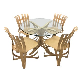 1990s Vintage Frank Gehry Power Play Dining Set - 5 Pieces For Sale