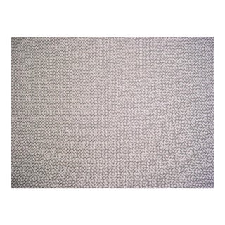 Zoffany Sanderson Linden Dove Gray Lattice Weave Upholstery Fabric - 3 1/2 Yards For Sale