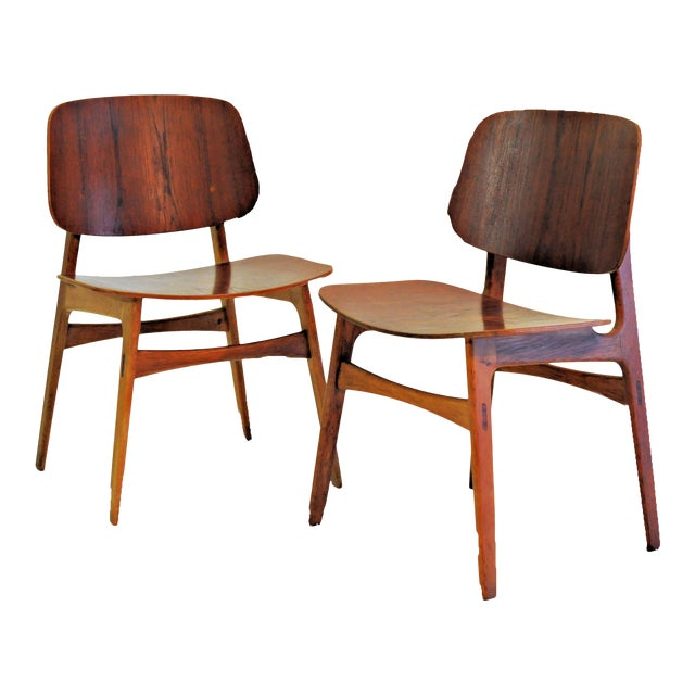 Mid Century Borge Mogensen Shell Chairs- A Pair For Sale