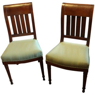 C. 1830 French Mohogany Side Chairs - Set of 2
