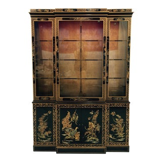 Vintage 1980s Drexel Heritage Asian Chinoiserie China Cabinet